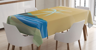 Sandy Exotic Beach Tablecloth