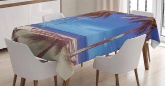 Ocean Palms Warm Beach Tablecloth