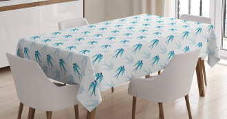 Flying Birds in Sky Tablecloth