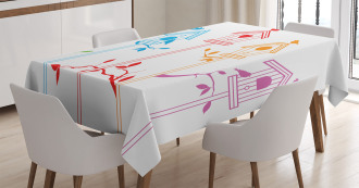 Flying Bird Nest Roof Tablecloth