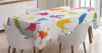 Flying Birds Friends Tablecloth
