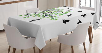Flying Birds Spring Peace Tablecloth