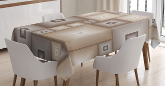 Cubic Square Retro Form Tablecloth