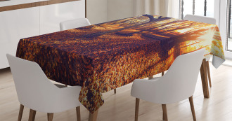 Sunset Forest Trees Tablecloth