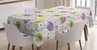 Retro Colorful Pattern Tablecloth