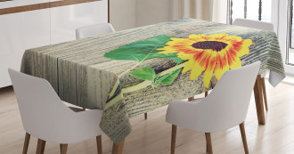 Wood Board Bouquet Tablecloth
