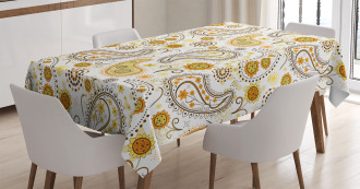 Ethnic Tribal Floral Tablecloth