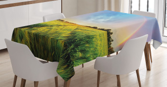 Wheat Field Nature Tablecloth