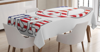 70s Peace Sign American Tablecloth