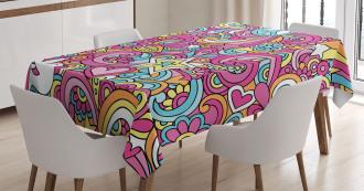 Funky 60s Fun Retro Tablecloth