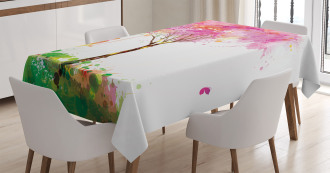 Spring Blossoming Tree Tablecloth