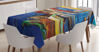 Shore at Warm Sunset Tablecloth