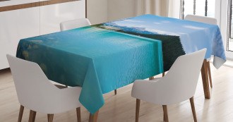 Canadian Lake Castle Tablecloth