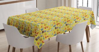 Yellow Kitchenware Tablecloth