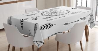 Folk Feathers Arrow Tablecloth
