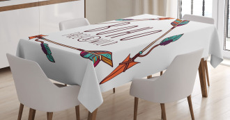Ancient Ethnic Bohemian Tablecloth