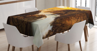 Wild Sunset and Waves Tablecloth