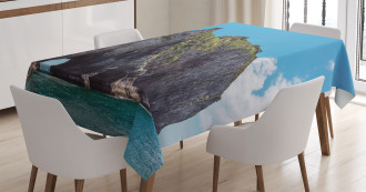 Elephant Shape Rock Bay Tablecloth