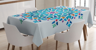 Ethnic Asian Damask Tablecloth