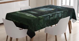 Dark Haunted Castle Tablecloth