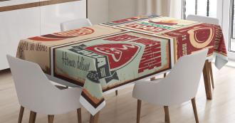Retro Mexican Tin Sign Tablecloth