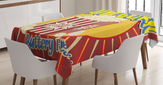 Pop Corn Movie Snack Tablecloth