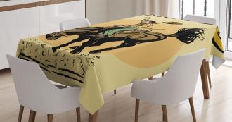 Wild Horse Rodeo Cowboy Tablecloth