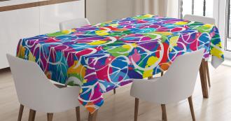 Peace Activism Theme Tablecloth