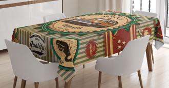 Old Sixties Car Pop Art Tablecloth