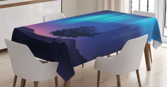 Aurora Borealis Tree Tablecloth
