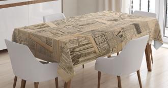 Fashion Magazine Woman Tablecloth