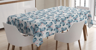 Floral Butterflies Tablecloth