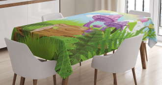 Wood Grass Fungus Art Tablecloth