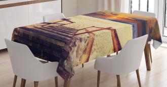 Romantic Sunset Skyline Tablecloth