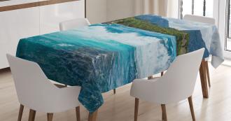 River Cloudy Mountain Tablecloth