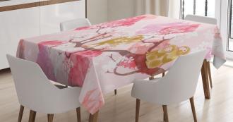 Minimalist Tree Braches Tablecloth
