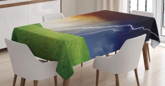 Thunder Flash Field Tablecloth