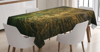 Exotic Dark Feathers Tablecloth