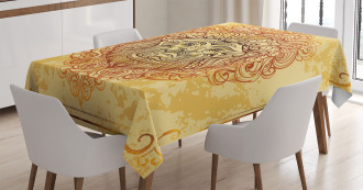 Lion Zodiac Astrology Tablecloth