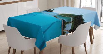 Pool Tropical Island Tablecloth