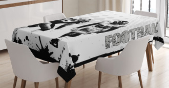 American Soccer Dot Tablecloth