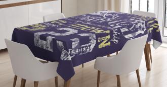 Retro American Football Tablecloth