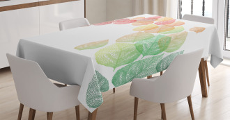 Flying Leaves Art Tablecloth