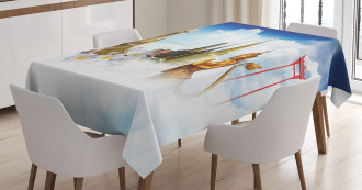 Thailand Famous Statues Tablecloth