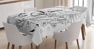 Seahorse Compass Tablecloth