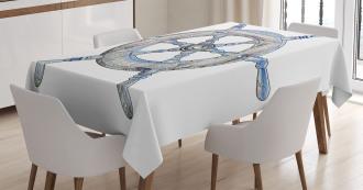 Wooden Ship Wheel Tablecloth