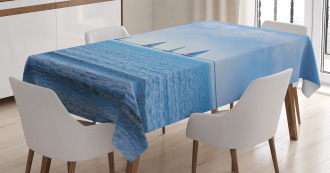 Sailing Boat on Ocean Tablecloth