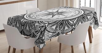 Ornate Floral Wind Rose Tablecloth