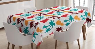 Palm Trees Island Tablecloth