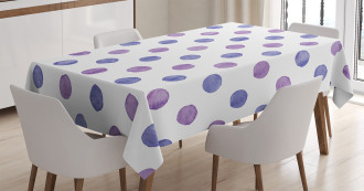 Watercolor Polka Dots Tablecloth